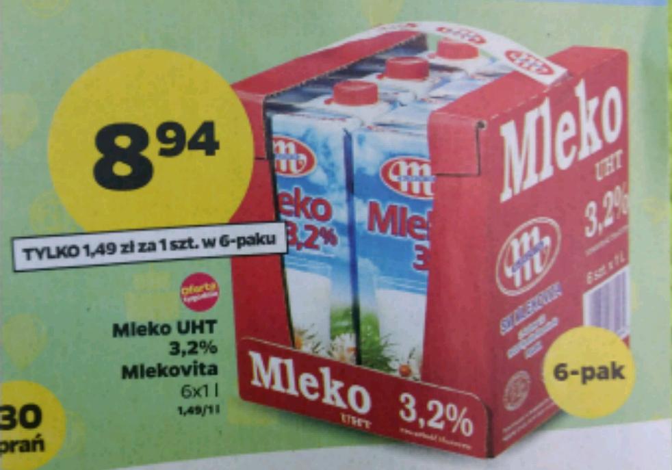 Mleko 3.2% UHT za 1.49 zł w Netto