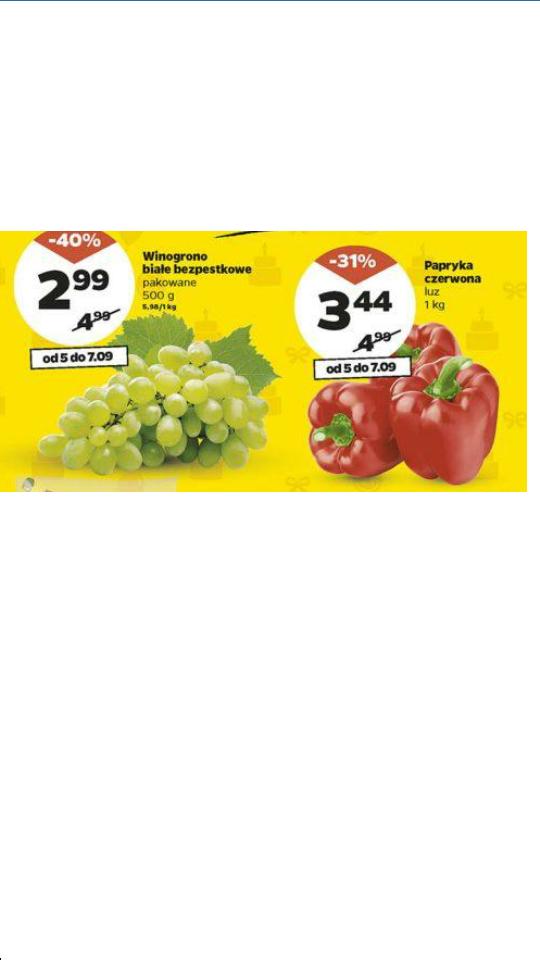 Winogrono białe bezpestkowe pakowane 500g @Netto