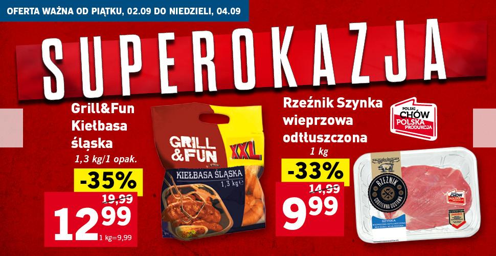 Grill & Fun Kiełbasa śląska 1,3 kg @Lidl