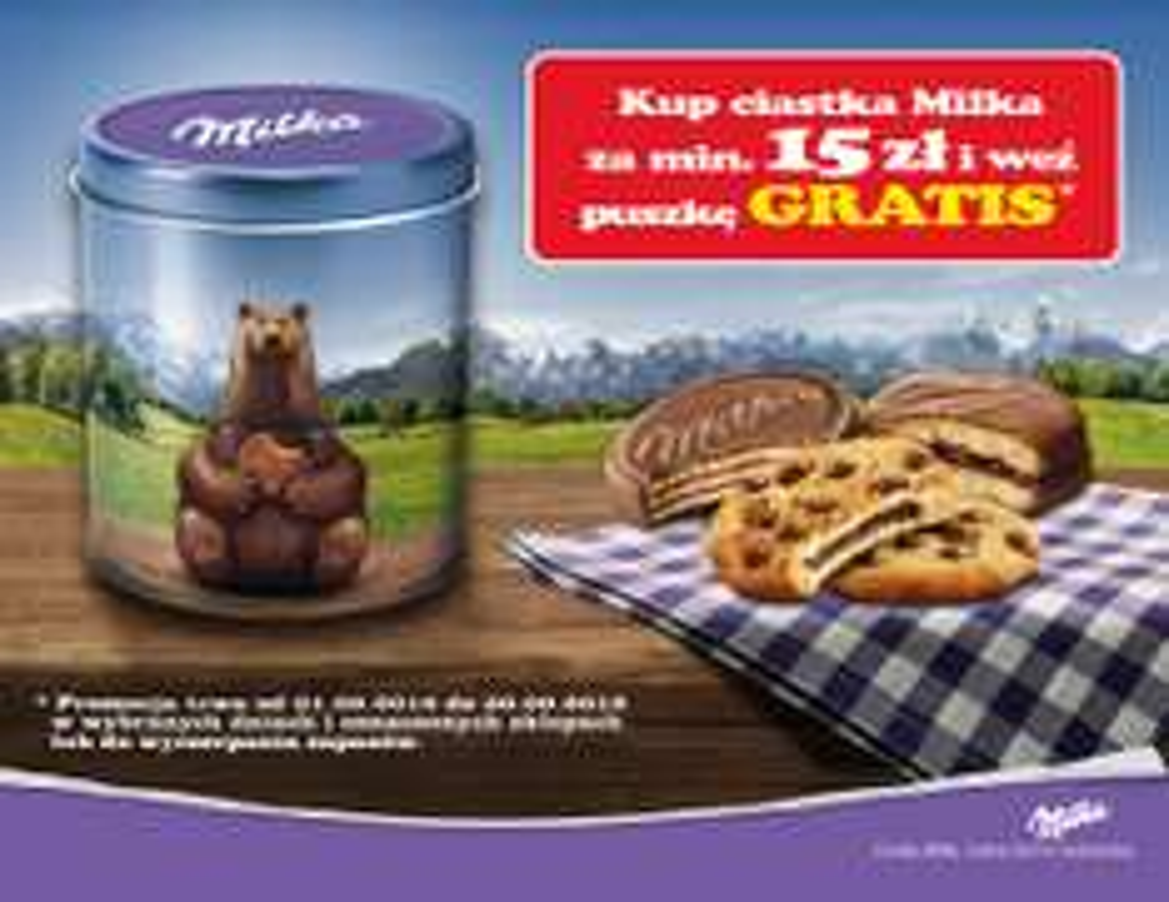 Puszka gratis przy zakupie produktów Milka za min.15zł @ Tesco