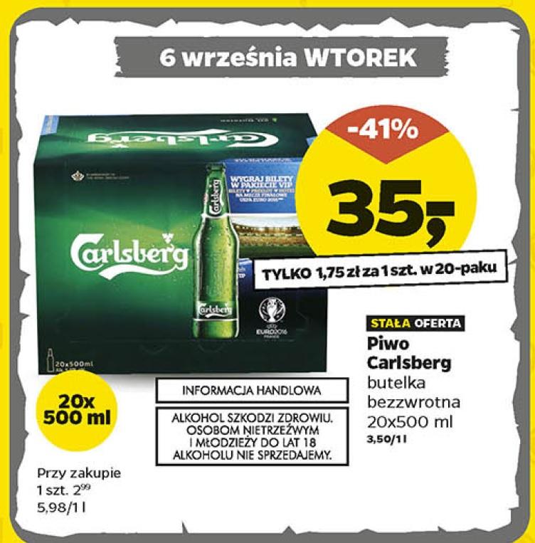 Piwo Carlsberg 20 sztuk/500ml w Netto