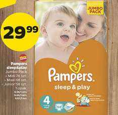 Pieluchy Pampers Sleep&Play w Netto