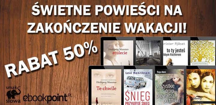 Powieści na koniec wakacji 50% taniej @ ebookpoint.pl