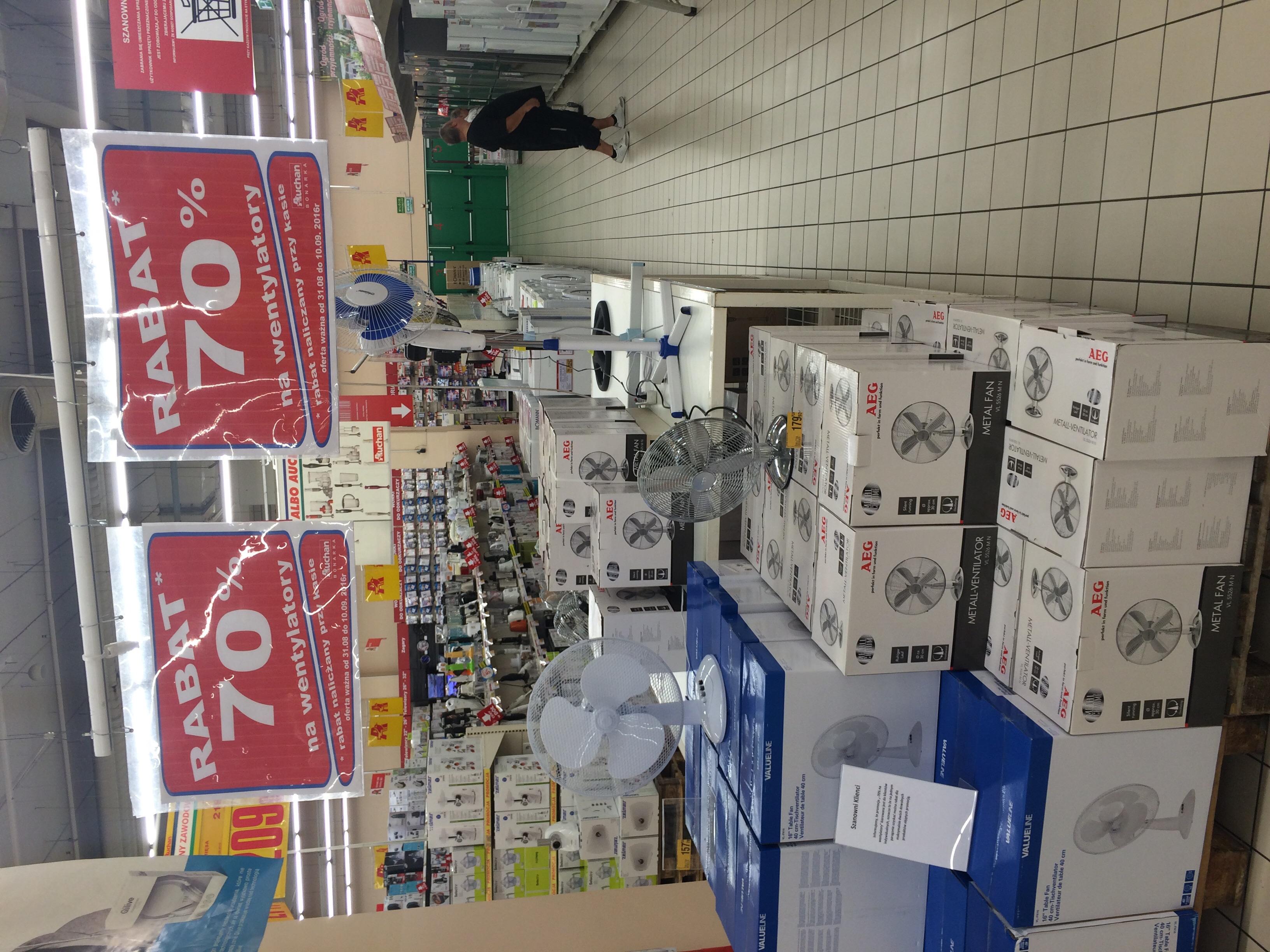 Wentylatory -70% Auchan