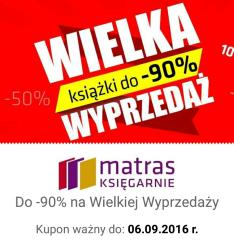 Wielka Wyprzedaż do -90% MATRAS
