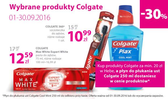 Płyn do płukania ust GRATIS przy zakupie produktów Colgate za min.20zł @ Hebe