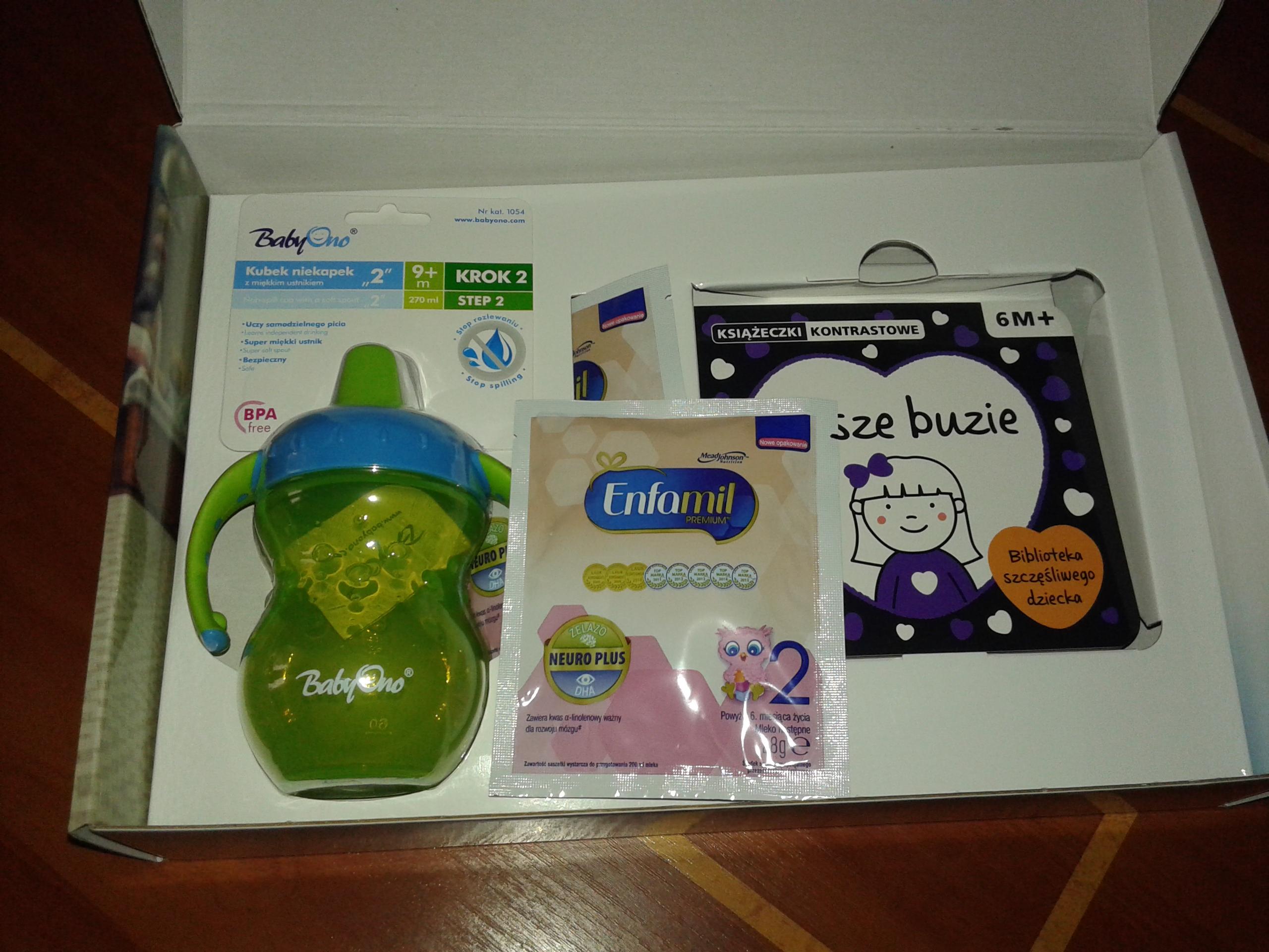 Butelka lub kocyk, książeczka i próbki mleka Enfamil 2 @  ENFAMAMA KLUB