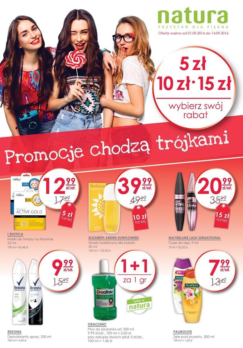 Drugi lakier za 1GROSZ, -40% na wybrane kosmetyki i inne promocje @ Natura