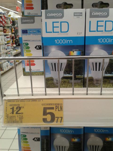 Żarówki LED ciąg dalszy - E27 1000 lm, 2800K - Auchan