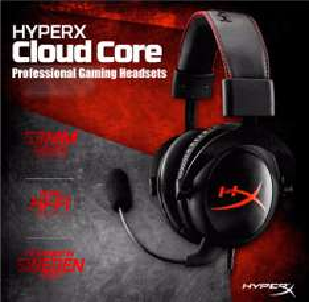 Słuchawki Kingston HyperX Cloud Core za ~162zł @ Gearbest
