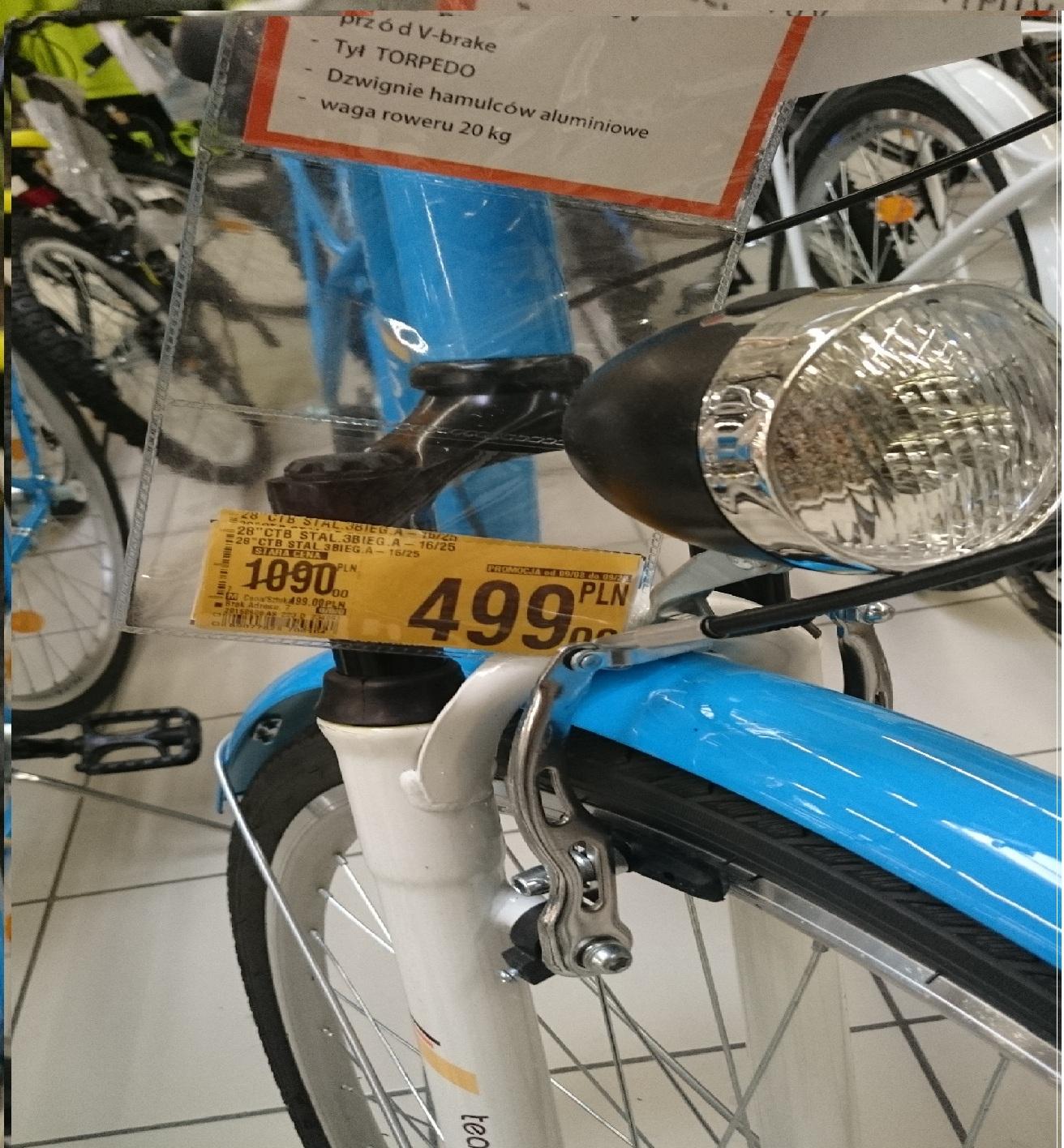 Rower miejski AUCHAN za 499 zł