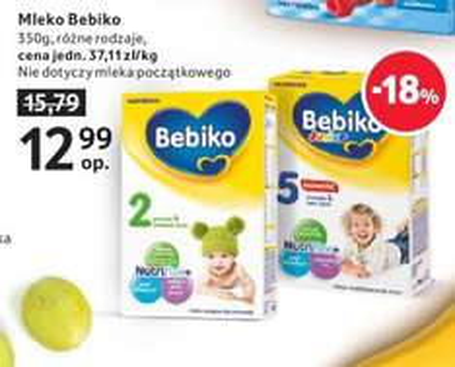 Mleko Bebiko 350g za 12,99zł @ Tesco