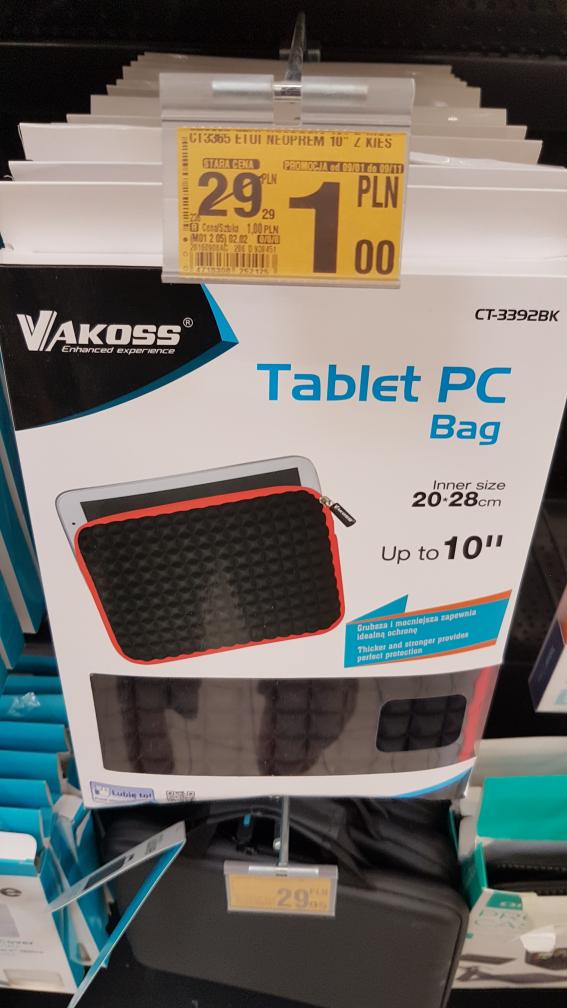 Etui neoprenowe na tablet do 10' cali przecena z 29zl na 1zl