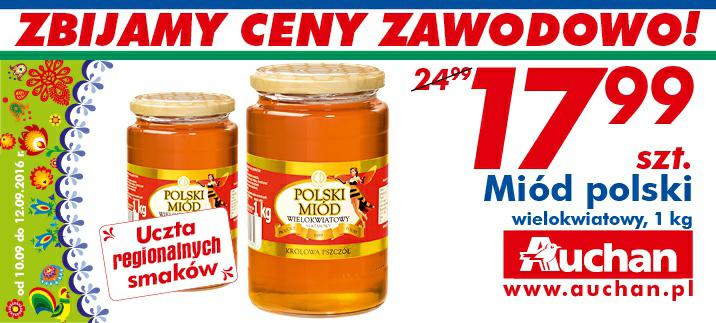 Miód polski wielokwiatowy szt-1 kg @Auchan