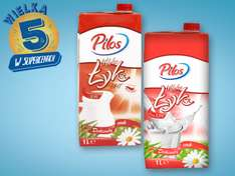 Mleko UHT Pilos 3,2% oraz 3,5% 1l za 1,29zł @Lidl