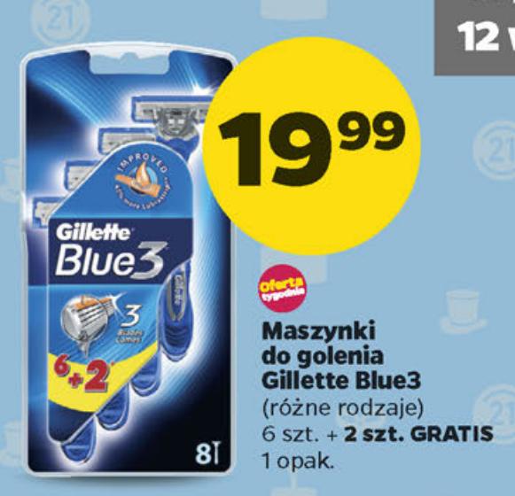 NETTO: Gillette Blue 3 - 8 maszynek, 2,5zł/sztukę
