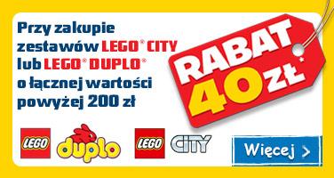 40zł rabatu przy zakupie zestawów LEGO CITY lub LEGO DUPLO