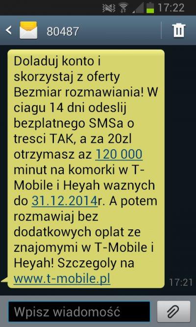120 000 minut za 20 zł w ofercie na kartę @ T-Mobile