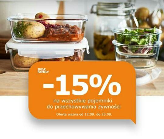 -15% na serię LATTJO i na wszystkie pojemniki do przechowywania żywności @Ikea