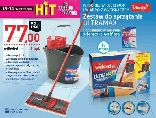 Zestaw do sprzątania Ultramax + ściereczka Actifibre @Intermarche