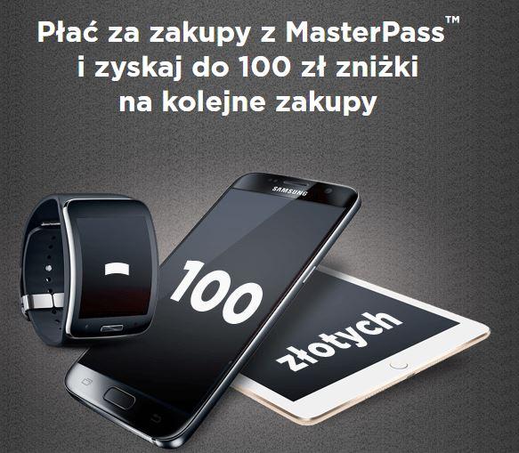 20, 50 lub 100zł do wykorzystania na kolejne zakupy za płatność poprzez MasterPass @ OleOle