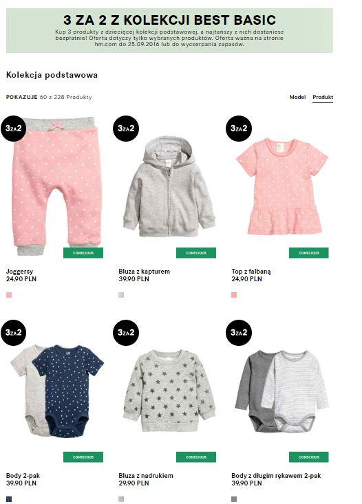 3 za 2 - dziecięca kolekcja Best Basic (duży wybór modeli i rozmiarów) @ H&M