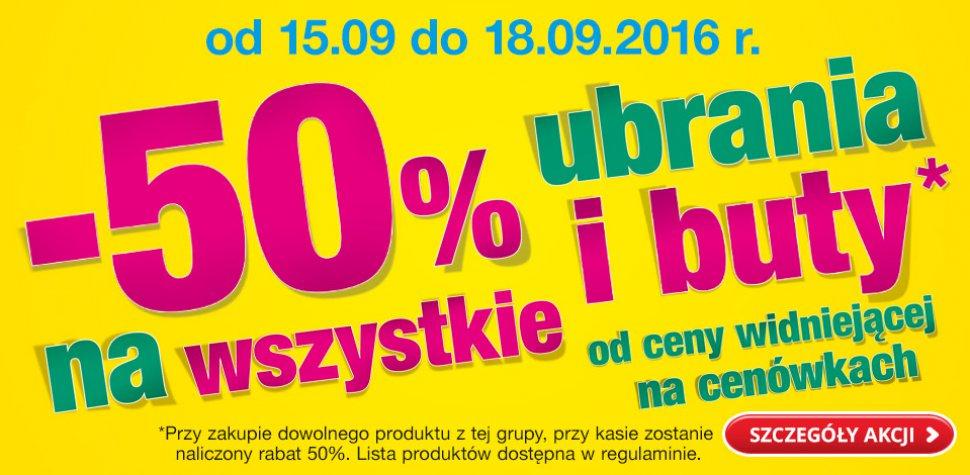 50% rabatu na ubrania i buty @ Biedronka