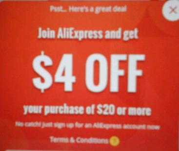 Aliexpress -4$ przy MWZ 20$ dla nowych