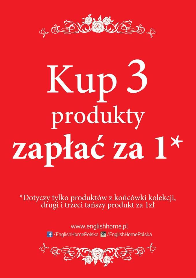 3 produkty w cenie jednego @ English home