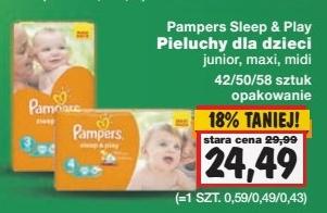 Pieluszki Pampers Sleep&Play za 24,49zł @ Kaufland