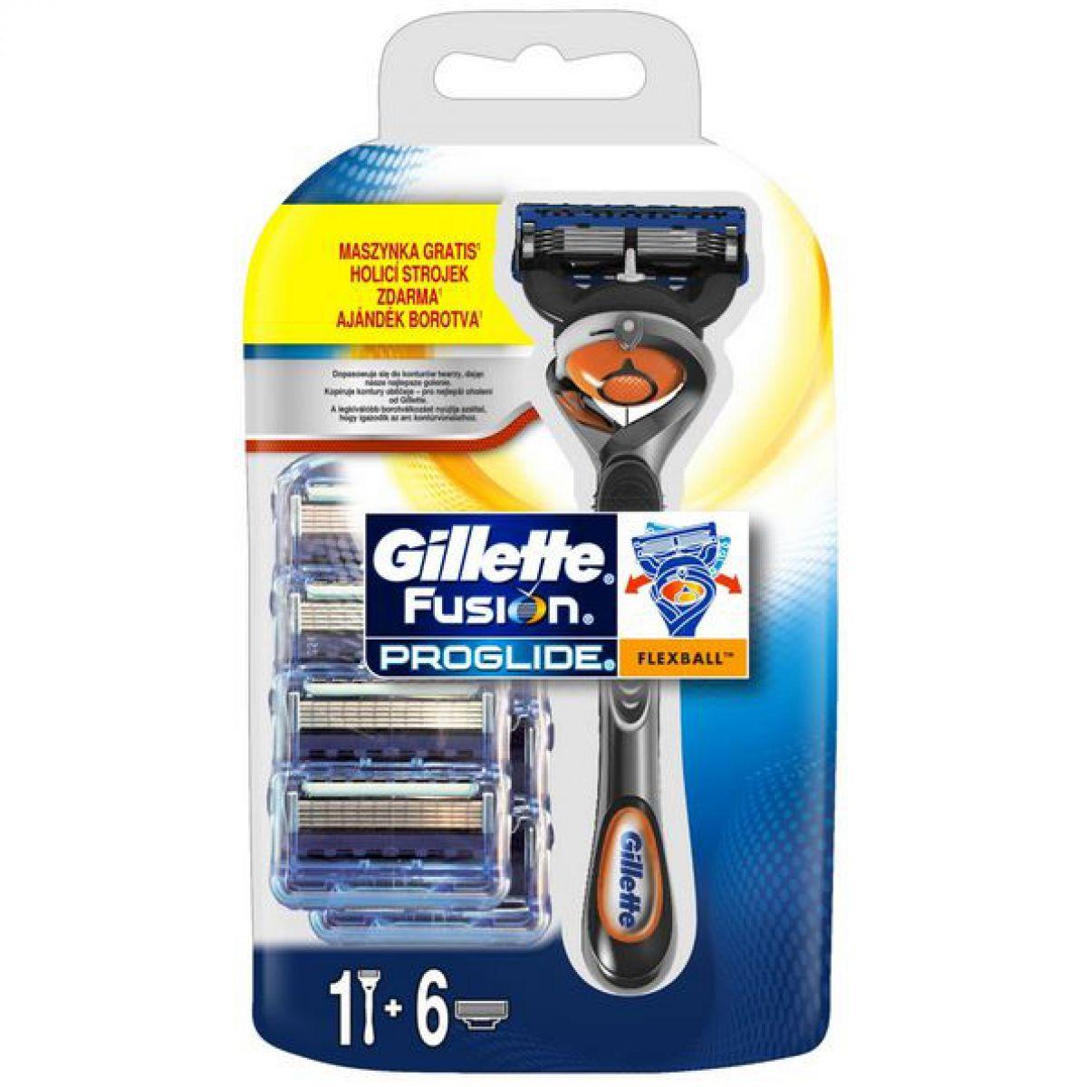 Gillette Fusion Proglide Flexball (7 wymiennych nożyków + rączka gratis) za 65,99PLN @ Super-Pharm