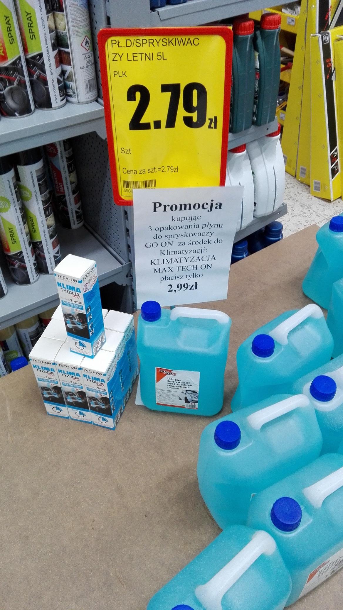 Płyn do spryskiwaczy letni + środek do klimatyzacji Bricomarche