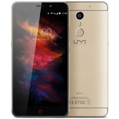 Umi Max - złoty, 5,5 cala Android 6.0, 3 GB RAM, USB typu C, LTE