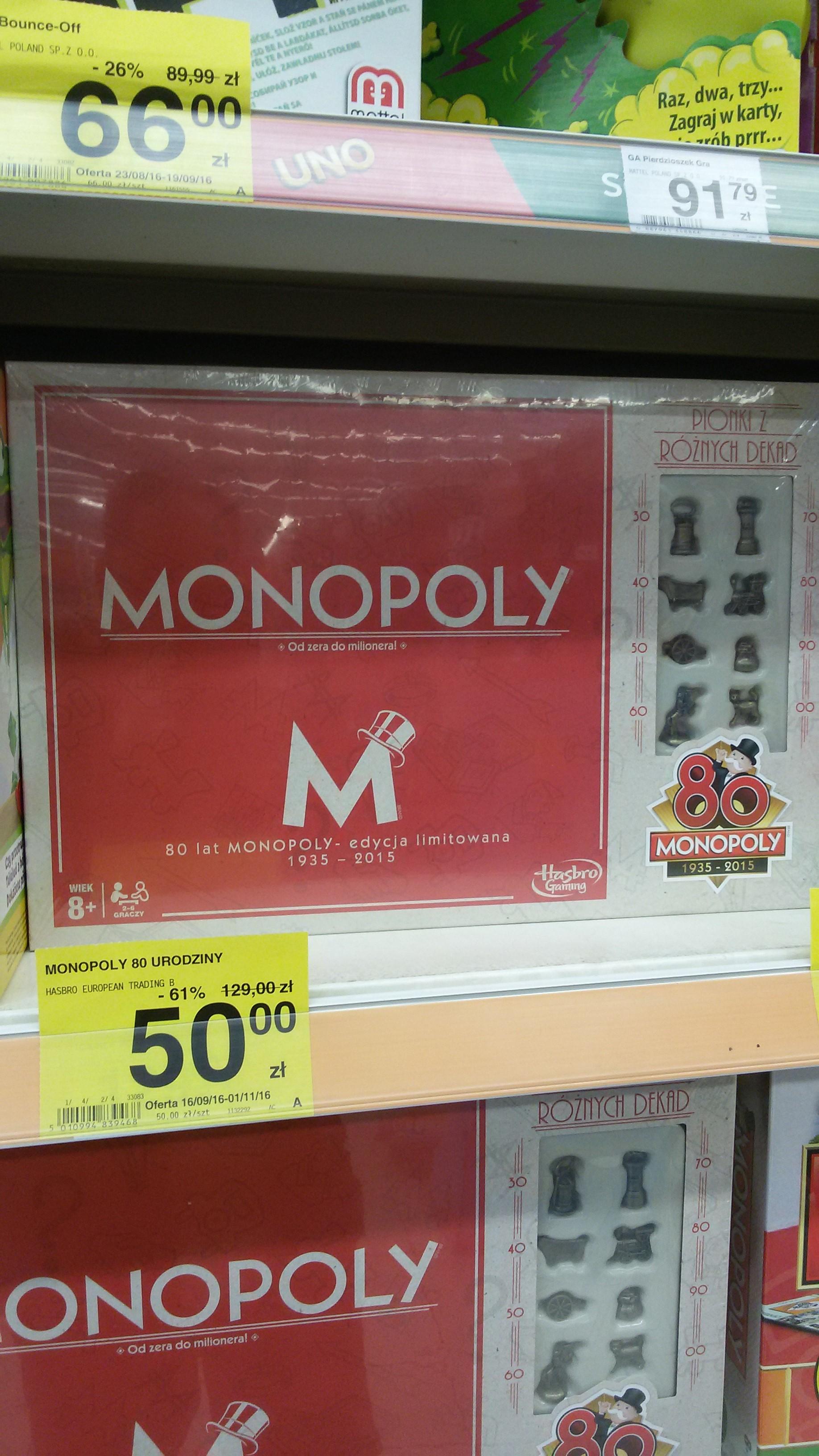 Monopoly, 80 urodziny w sklepie Carrefour