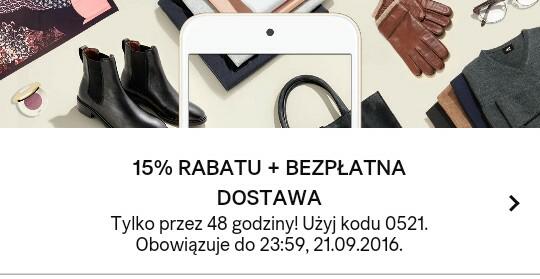 -15% i darmowa dostawa H&M tylko do 22.09 do 9