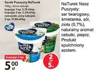 Serek kanapkowy ziołowy NaTurek za 2.50 zł przy zakupie 2 szt