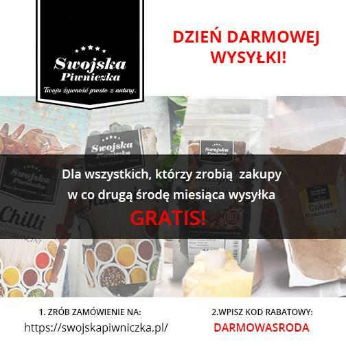 www.swojskapiwniczka.pl, darmowa dostawa (co druga środa miesiąca), od dzisiaj