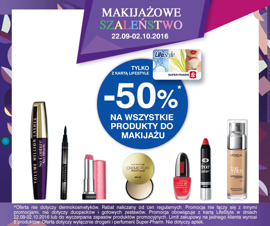 -50% na wszystkie produkty do makijażu @Super-pharm