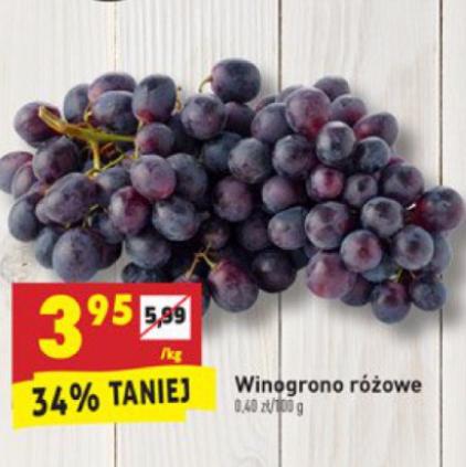 #Biedronka: Winogrono różowe 3,95zł za kilogram