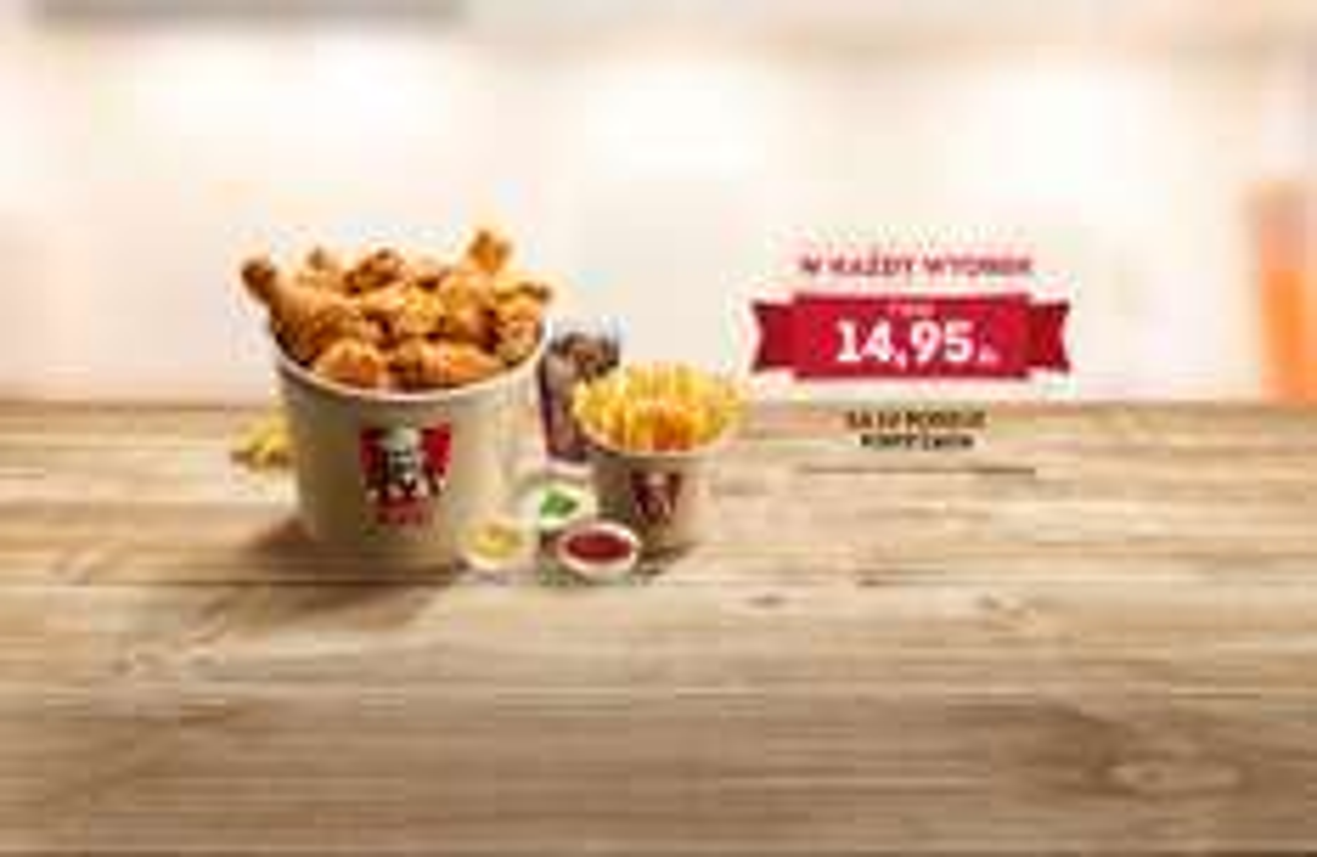 Wtorkowe kubełki w cenie 14,95zł wracają @ KFC