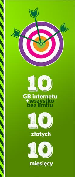 ROZMOWY/SMS/MMS NO LIMIT + 10 GB LTE za 16,9 zł /mies