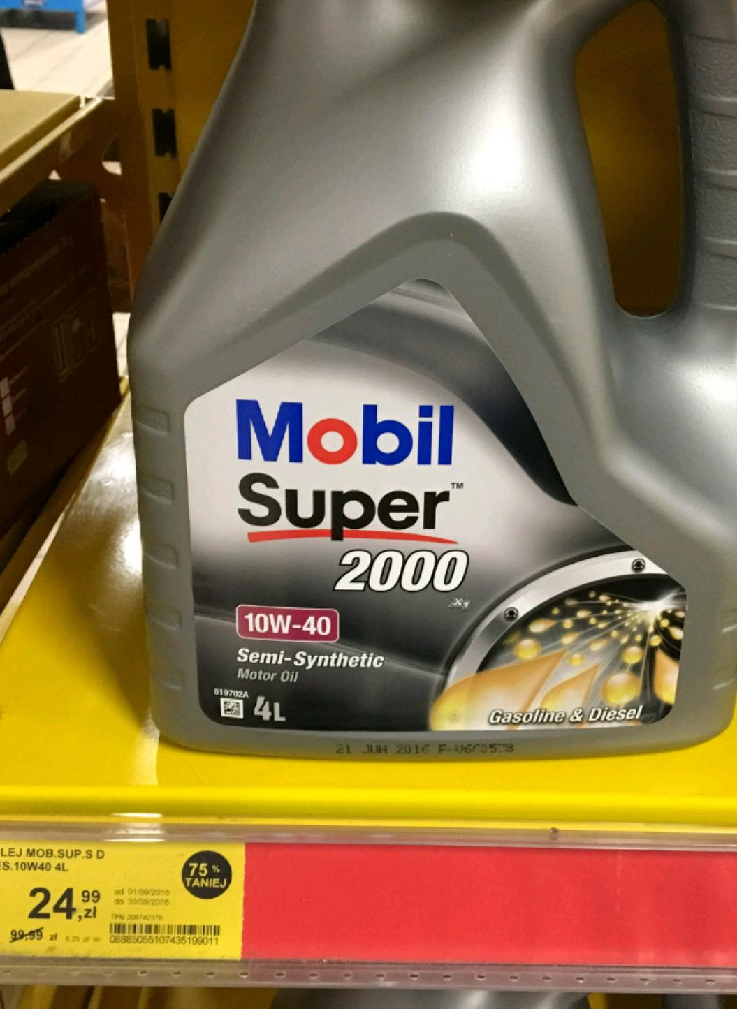 Olej silnikowy Mobil 10W-40 w rekordowo niskiej cenie @Tesco