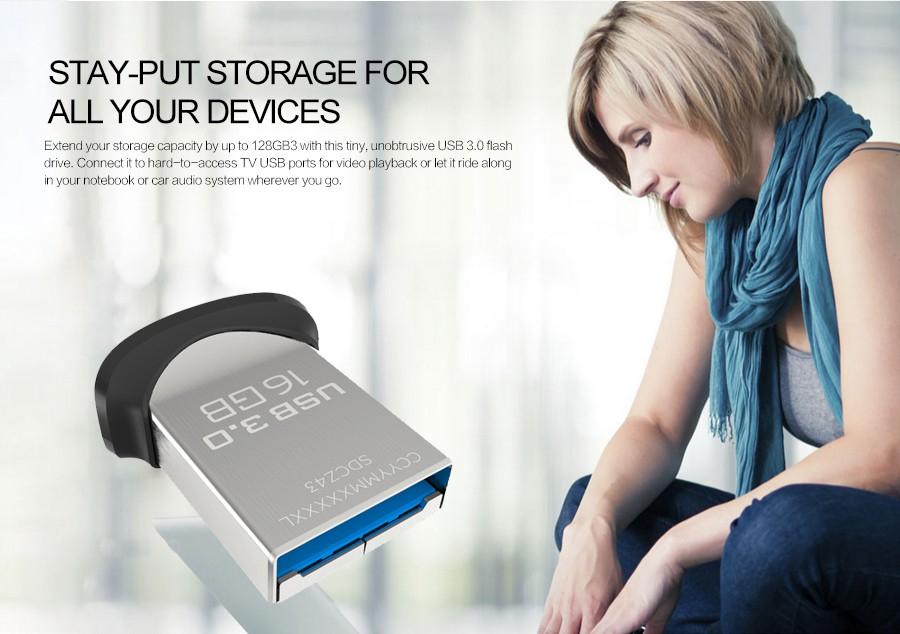 Zapals: SanDisk Ultra Fit 16G/32G/64G/128GB USB 3.0 Flash Drive USB Stick / darmowa wysyłka rejestrowana /