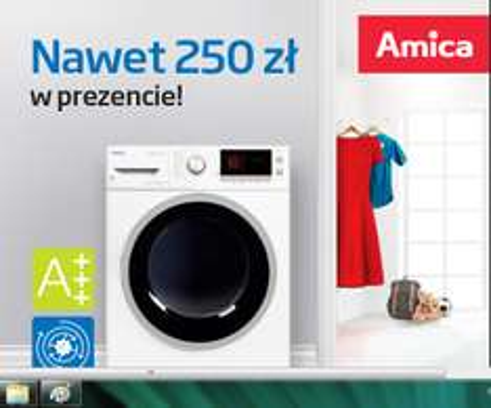 Premia do 250zł za zakup pralki/suszarki @ Amica