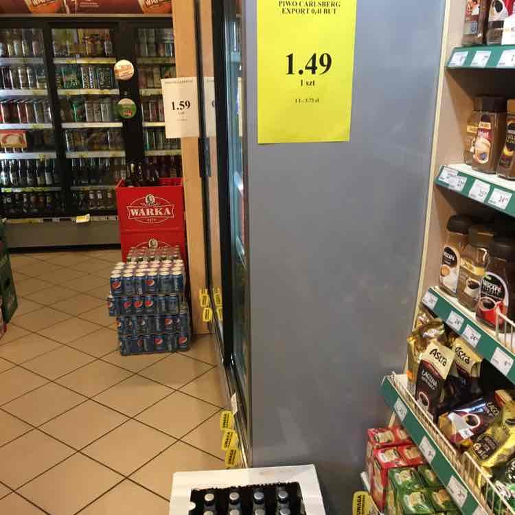 Piwo Carlsberg Export 0,4 butelka ŻABKA