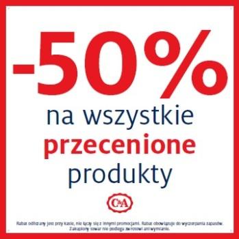 -50% na rzeczy przecenione @ C&A
