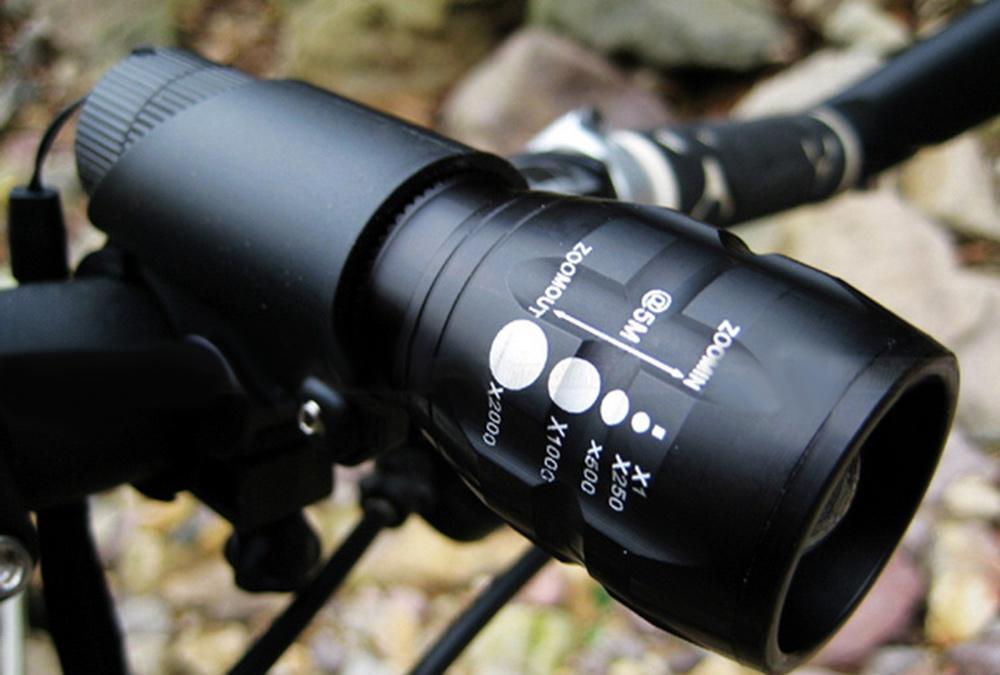 Latarka rowerowa Q5 LED z zoomem @Gearbest