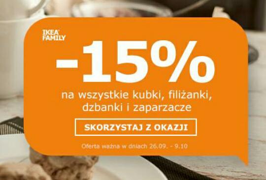 -15% na wszystkie stoliki kawowe,kubki,filiżanki,dzbanki i zaparzacze @Ikea