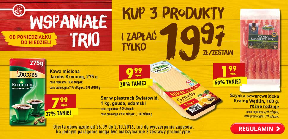 Biedronka - kup 3 produkty i zapłać tylko 19,97