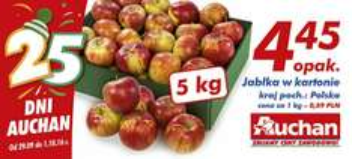 Jabłka w kartonie 5 kg @Auchan
